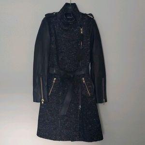 Mackage Leather Black Coat size S